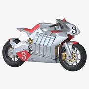Электрический гоночный велосипед 3d model