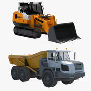 Crawler & Dump Truck Collection 3d model
