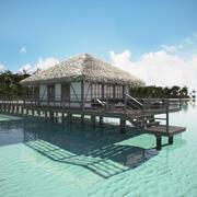 Casa en la playa modelo 3d