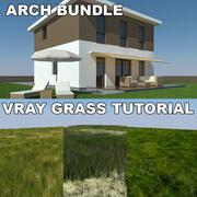 Tutoriel Maison et herbe 1 (2) 3d model