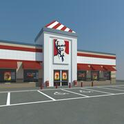 KFC z parkingiem 3d model