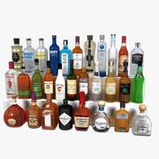 Butelki na alkohol 3d model