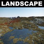 Pustynny krajobraz 3d model