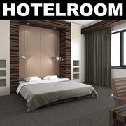 호텔 침실 3d model