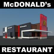 麦当劳餐厅现代 3d model