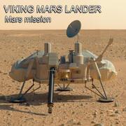 维京人火星着陆器 3d model
