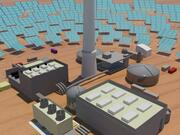 solar power in sahara desert 3d model