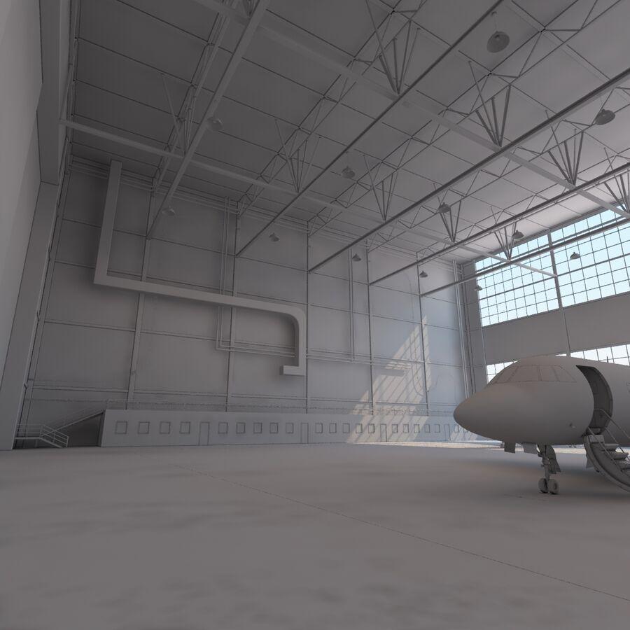 航空機と航空機の格納庫。 royalty-free 3d model - Preview no. 18
