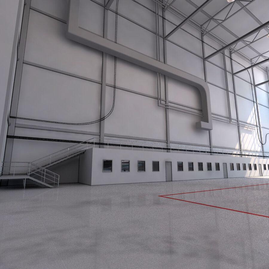 航空機と航空機の格納庫。 royalty-free 3d model - Preview no. 9