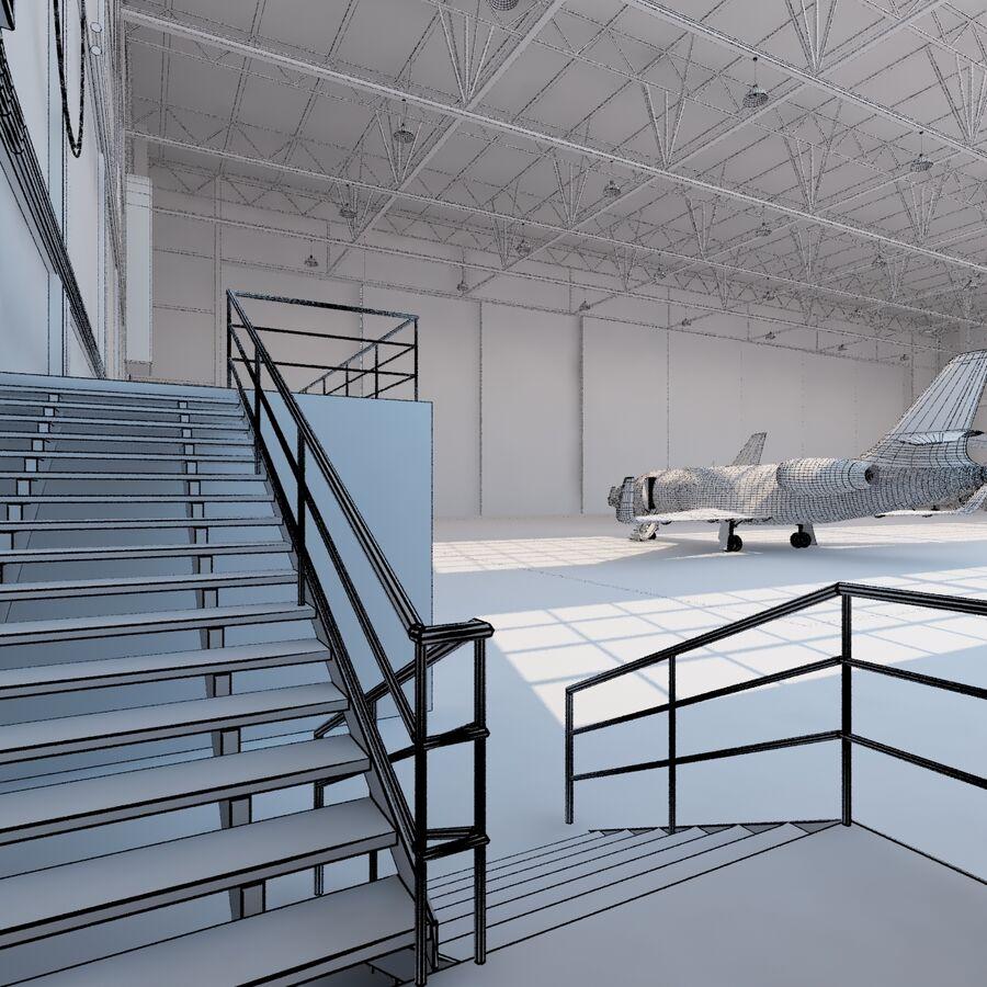 航空機と航空機の格納庫。 royalty-free 3d model - Preview no. 25