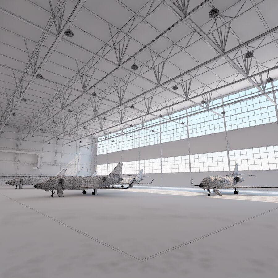 航空機と航空機の格納庫。 royalty-free 3d model - Preview no. 27