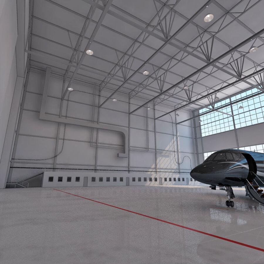 航空機と航空機の格納庫。 royalty-free 3d model - Preview no. 8