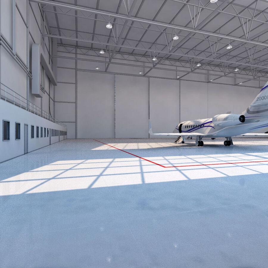 航空機と航空機の格納庫。 royalty-free 3d model - Preview no. 6