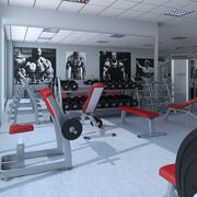 Grote HD-sportschool 3d model