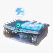 Hologram Table 3d model