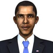 巴拉克奥巴马 3d model
