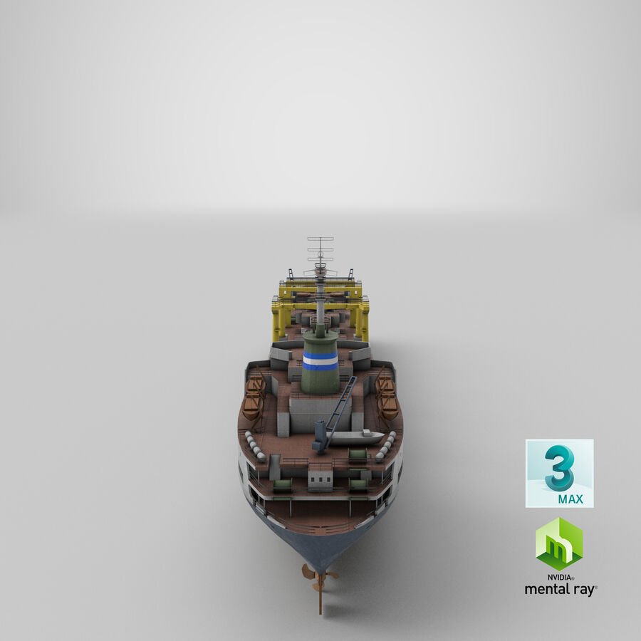 화물 화물선 VRay royalty-free 3d model - Preview no. 17