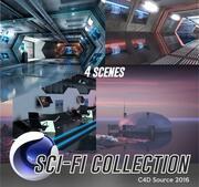 Научно-фантастическая коллекция 3d model