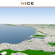 Schöne Stadt abgeschlossen 3d model