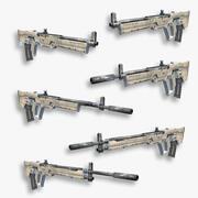 Set fucili fantascientifici 05 3d model