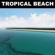 Tropikalna plaża 3d model