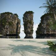 Tajska plaża 3d model