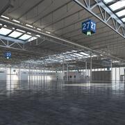 Выставочный зал 3d model