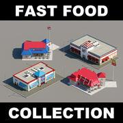 Kolekcja restauracji Fast Food 3d model