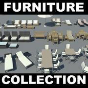 Коллекция садовой мебели (2) 3d model