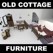 Коллекция мебели в загородном стиле (2) 3d model