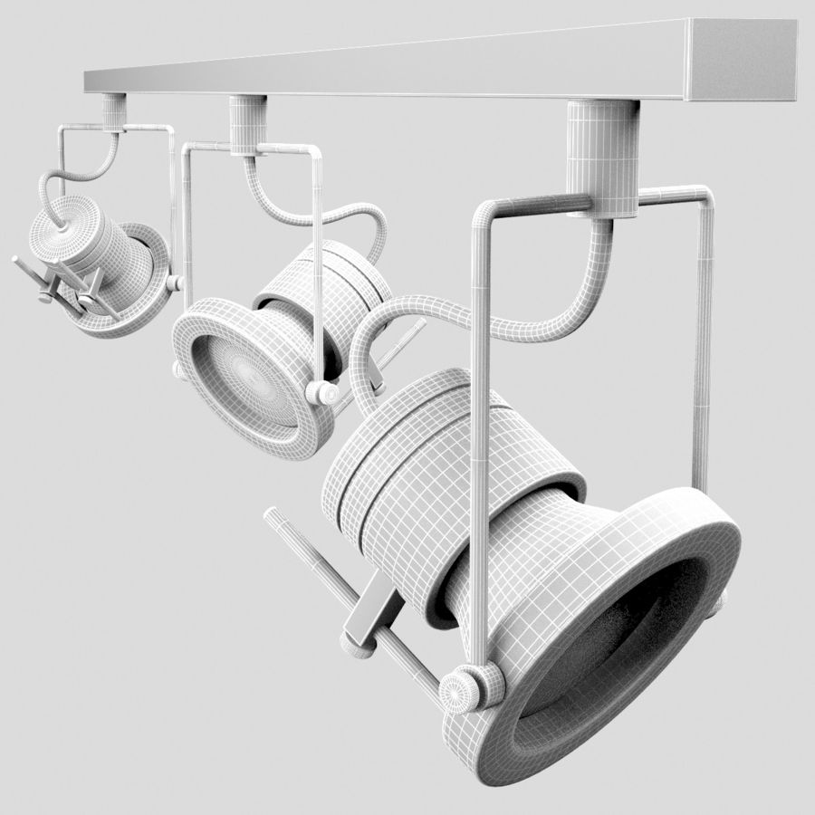 Track Lighting royalty-free 3d model - Preview no. 10