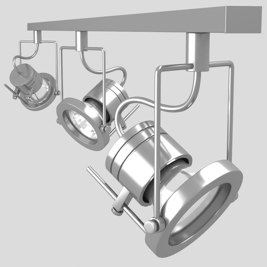 Track Lighting royalty-free 3d model - Preview no. 11