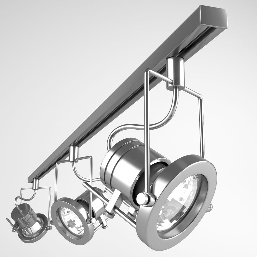 Track Lighting royalty-free 3d model - Preview no. 1