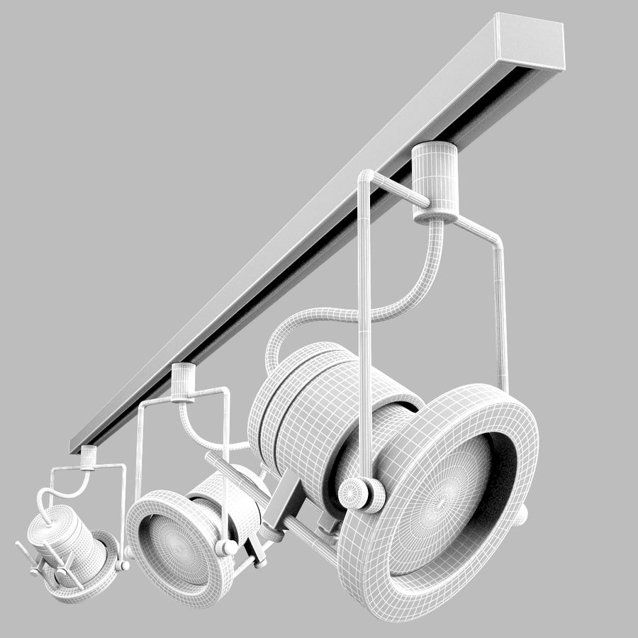 Track Lighting royalty-free 3d model - Preview no. 2