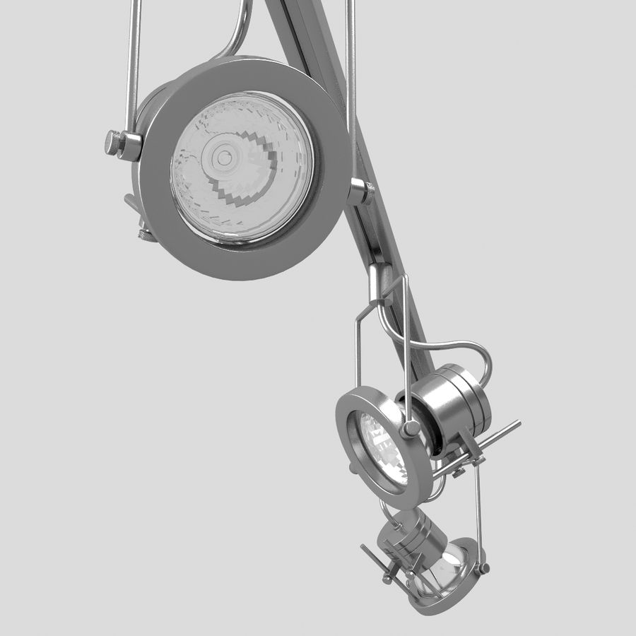 Track Lighting royalty-free 3d model - Preview no. 8