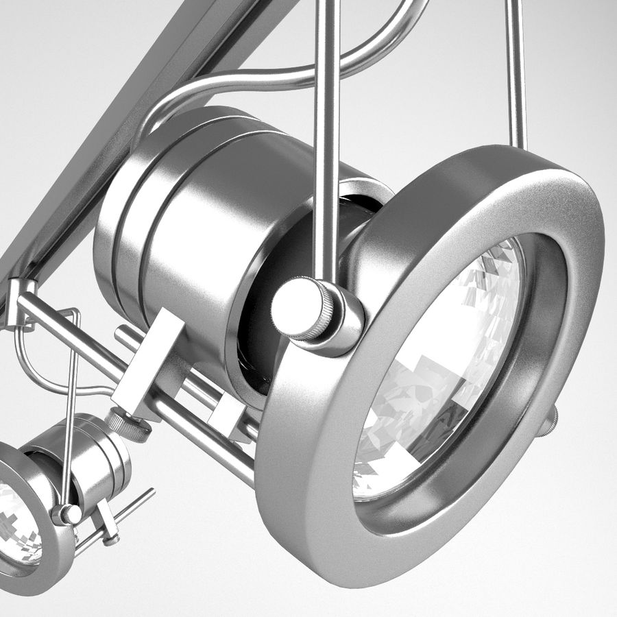 Track Lighting royalty-free 3d model - Preview no. 4