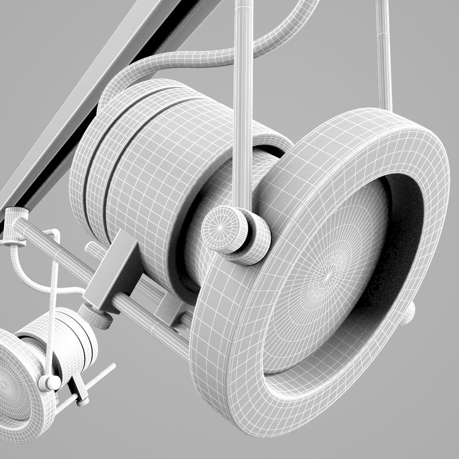 Track Lighting royalty-free 3d model - Preview no. 5
