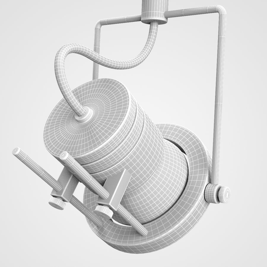 Track Lighting royalty-free 3d model - Preview no. 6