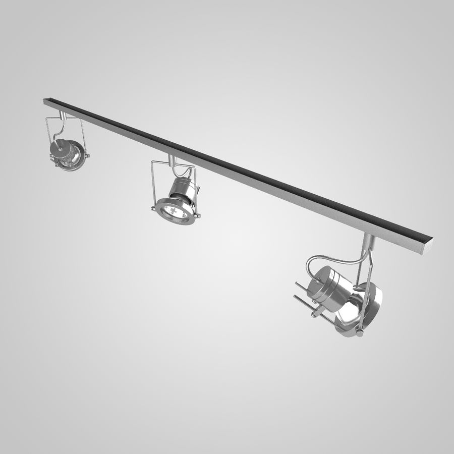 Track Lighting royalty-free 3d model - Preview no. 3