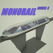 Einschienenbahn-Modell 3 3d model
