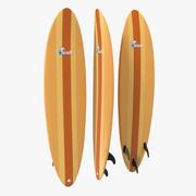 Surfboard Funboard 2 3d model