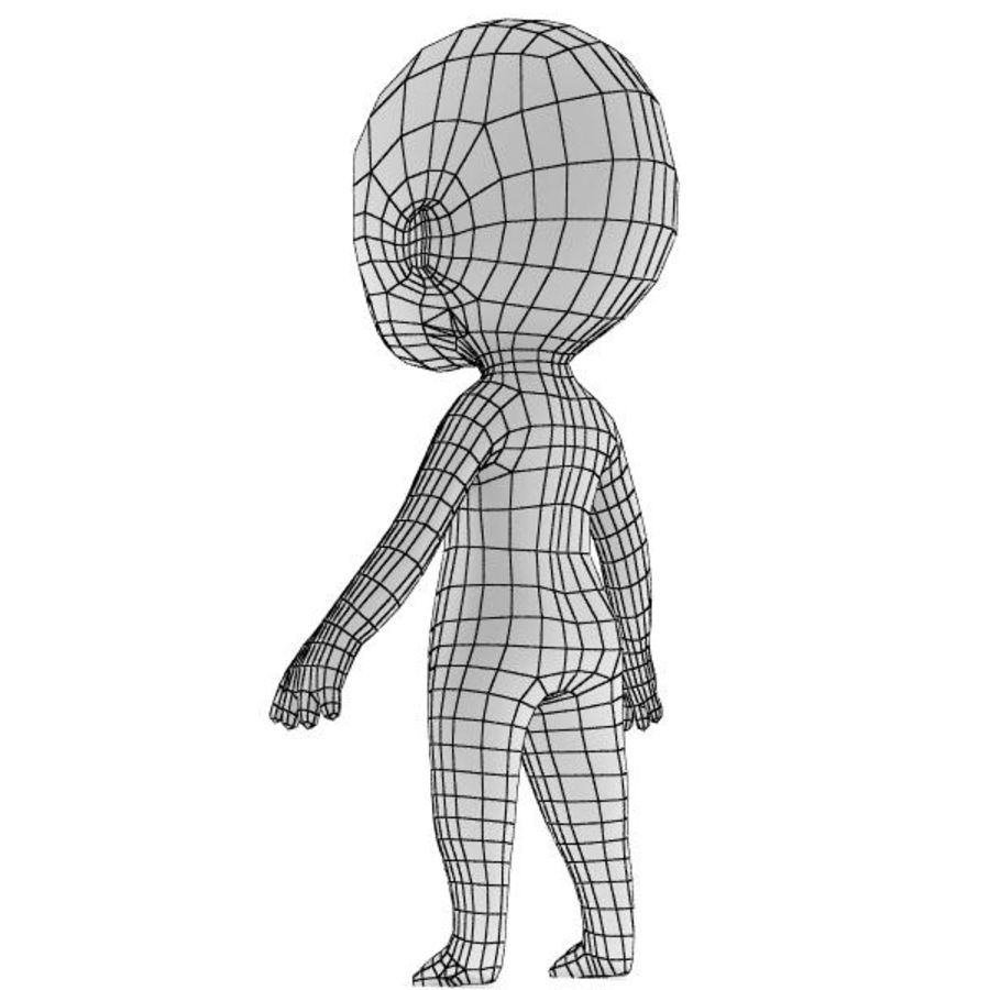 Chibi Base Mesh 02 royalty-free 3d model - Preview no. 5