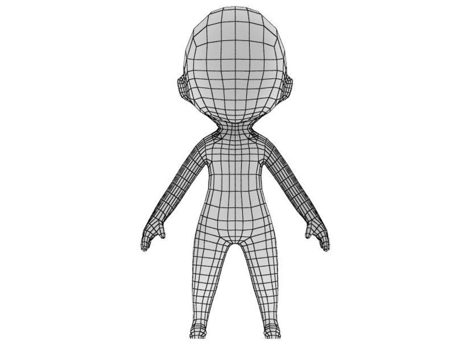 Chibi Base Mesh 02 royalty-free 3d model - Preview no. 2