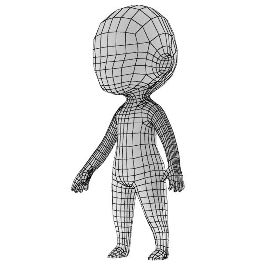 Chibi Base Mesh 02 royalty-free 3d model - Preview no. 1