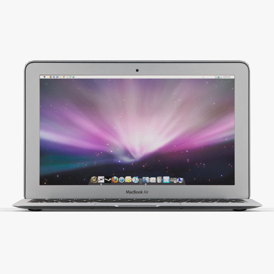 Apple MacBook Air 11 2010 Low-Poly royalty-free 3d model - Preview no. 3