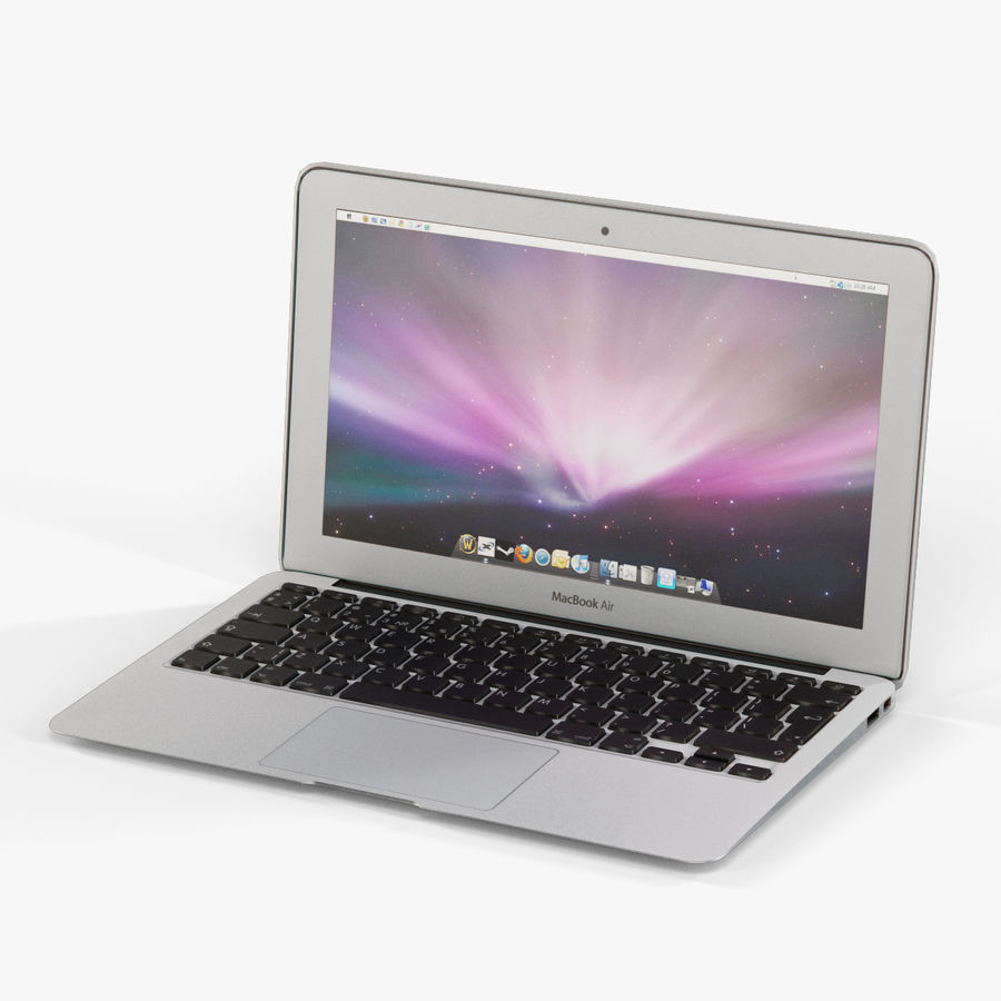 Apple MacBook Air 11 2010 Low-Poly royalty-free 3d model - Preview no. 4