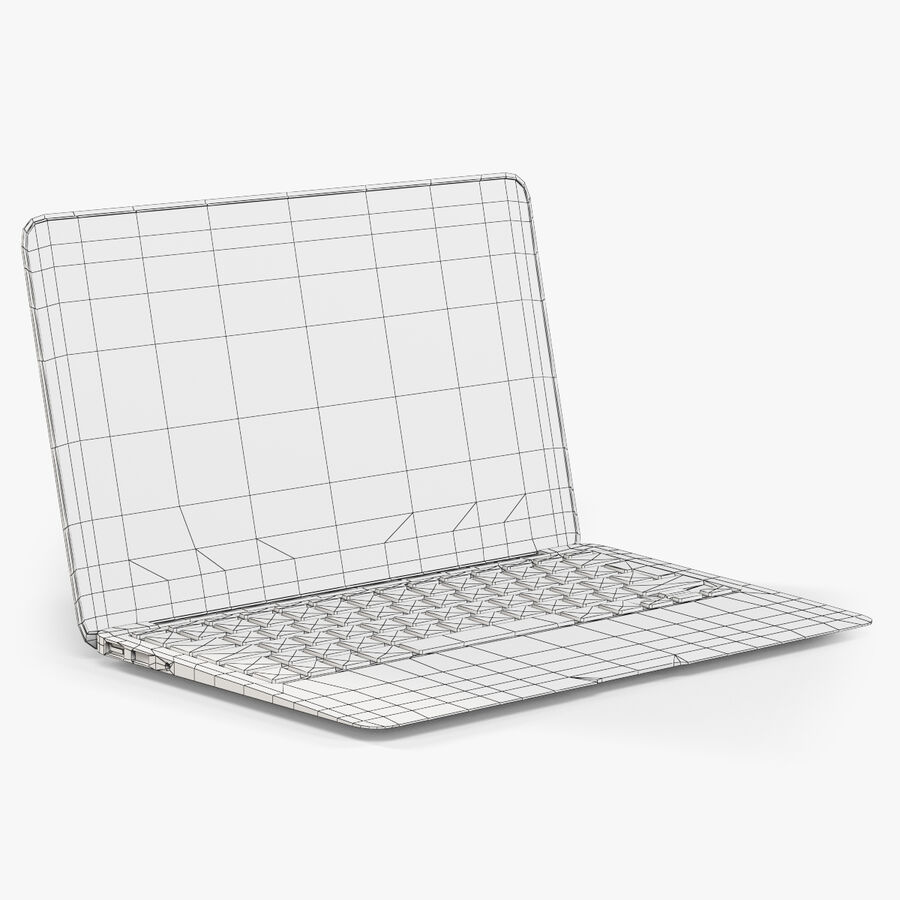Apple MacBook Air 11 2010 Low-Poly royalty-free 3d model - Preview no. 7