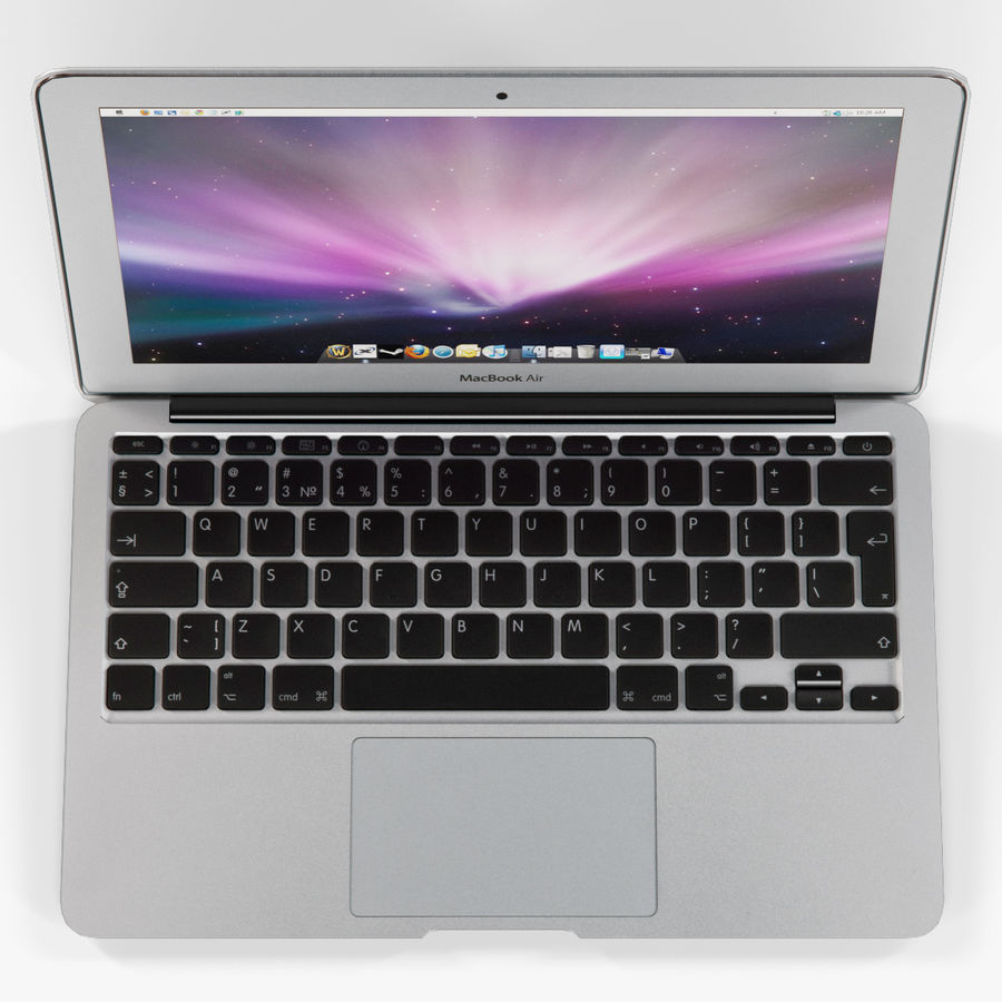 Apple MacBook Air 11 2010 Low-Poly royalty-free 3d model - Preview no. 6