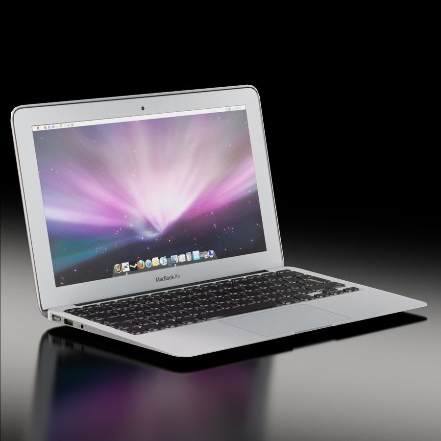 Apple MacBook Air 11 2010 Low-Poly royalty-free 3d model - Preview no. 2