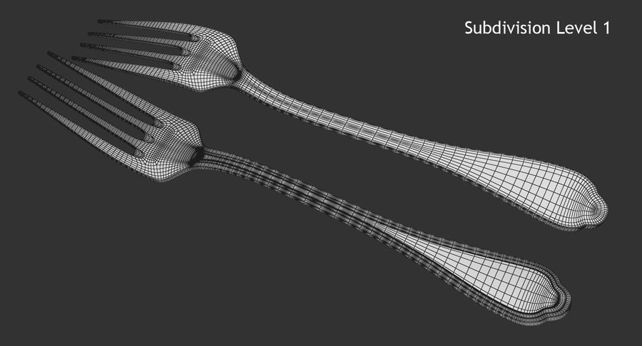 Fork royalty-free 3d model - Preview no. 10